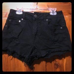 Black high rise American eagle shorts